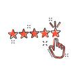 cartoon customer reviews user feedback icon in vector image vector image