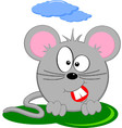 Cartoon Of Gray Fat Mouse vector image vector image