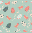 cartoon seamless pattern with easter eggs vector image vector image