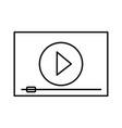 cinema movie outline vector image