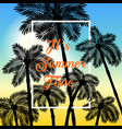 colorful poster palm summer background eps10 vector image vector image