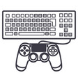 computer game line icon sign vector image vector image