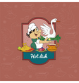 Cook who prepares a hot dish vector image