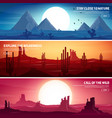 desert trip extreme tourism and traveling back vector image