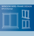 design and manufacture of windows vector image