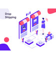 drop shipping isometric modern flat design style vector image