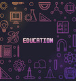 education concept colorful outline frame or vector image