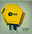 engineering hi-tech design concept vector image vector image