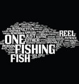 fish for reel text background word cloud concept vector image vector image