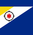 flag of bonaire vector image vector image