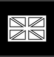 flag united kingdom white color icon vector image