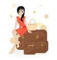 Girl Traveler vector image vector image
