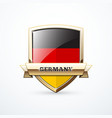 gold germany shield vector image vector image