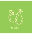Healthy diet icon vector image vector image