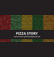 heart pattern set pizza story seamless vector image vector image