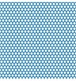 Honeycomb seamless pattern in blue color vector image vector image