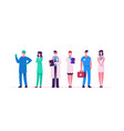 hospital healthcare staff doctor characters in vector image