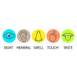 human senses icon flat vector image