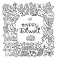 indian diwali festival holiday sketch for your vector image vector image