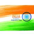 indian republic day flag design made with color vector image vector image