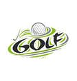 logo for golf sport vector image vector image