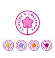 logo sweets cookies shop lollipop star vector image vector image