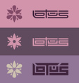 Lotus - set of logo templates with stylized flower vector image