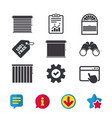 louvers icons plisse vertical and rolls vector image vector image
