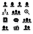 Man woman user icons set