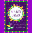Mardi gras carnival poster invitation greeting
