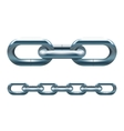 Metal chain vector image