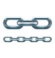 Metal chain vector image vector image