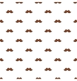 Moustache pattern cartoon style vector image vector image