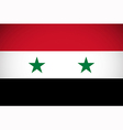 national flag syria vector image vector image
