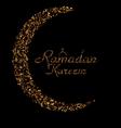 Ramadan Kareem Background with Moon and vector image