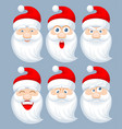 santa claus emotions vector image