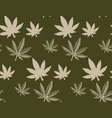 seamless pattern with a cannabis leaf 2 vector image