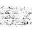 seamless pattern with black and white brick wall vector image
