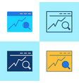 search engine optimization icon set in flat and vector image vector image