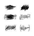 set of hand drawn wave distortion vector image vector image