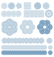 Set of ten Arabic patterns vector image vector image