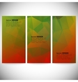 Set of vertical banners Abstract background vector image vector image