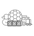 set toys entertainment icons vector image vector image