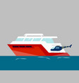 ship at sea transport shipping boats in vector image vector image