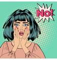 Shocked Woman Bubble Expression No Pop Art vector image vector image