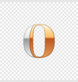 silver and gold font symbol alphabet letter o vector image vector image