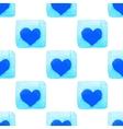 Sky blue geometric seamless pattern vector image vector image