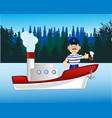 steamship on river vector image vector image