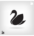 stylized silhouette swan on a light background vector image vector image