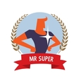 Superhero on a background vector image